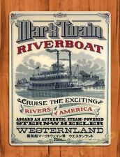 Disney Mark Twain Riverboat Tokyo Attraction Ride Movie Poster Art Tin Sign