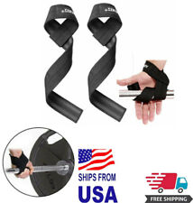Padded Weight Lifting Straps Training Gym Hand Bar Wrist Support Gloves Wrap New