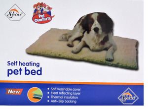 Self heating Pet Bed, Pet Cat Dog Soft Washable Cover & Anti-Slip backing Bed