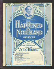 IT HAPPENED IN NORDLAND Herbert 1904 ABSINTHE FRAPPE Show Sheet Music Q24