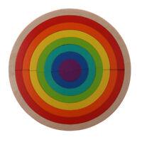 14 Pieces Wooden Rainbow Arch Blocks Building & Stacking Game Children Toy
