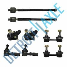 New (2) Inner & Outer Tie Rod Links + (2) Ball Joints + (2) Sway Bar End Links