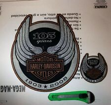 harley davidson 105th anniversary Patch Huge