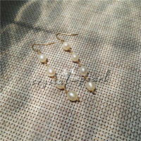 9-12MM AAA PERFECT South Sea white  Pearl Earrings 14K GOLD hook