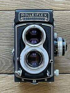 ROLLEIFLEX T WHITEFACE (3RD VERSION) NEAR MINT -RARE! with F3.5/75mm TESSAR LENS