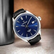 VINCERO Watches Classic BLUE BLACK Leather Band Men's Luxury Watch *New in box