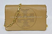 84fbb0d20645 Tory Burch Kipp Clutch Crossbody Shoulder Bag in Sand Dollar - Tan