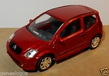 NOREV 3 INCHES 1/54 CITROEN C2 ROUGE METAL 110 cv 195 km/h no box