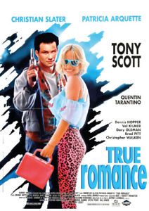 True Romance Movie Poster Available in A2(420mmx297mm) & A1(594mm X 841mm)
