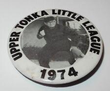 1974 Baseball Pin Coin Button Upper Tonka Minnesota Little League Pinback