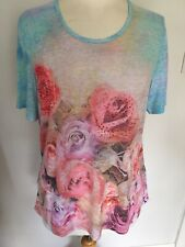 Gerry Weber Edition Ladies Short Sleeve Floral Top Size 16. BNWT RRP £45.