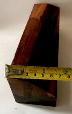"""Exotic Wood Snakewood  9""""x2""""x1-2.5"""" Game Calls Knife Handles Pool Cues Reel Seat"""