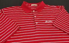 Peter Millar Striped Polo Shirt Large (L) Red/White 100% Cotton