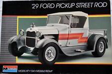 Monogram 1:24 Model Car Kit '29 Ford Pickup Street Rod Unbuilt #2750 RARE!