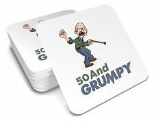 50th  Birthday 1968 Happy Present Gift Idea For Men Him Male Keepsake Coaster