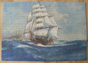 Vintage Chad Valley 500 piece wooden jigsaw puzzle Sailing ship