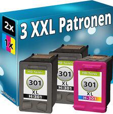 3x Patronen für HP 301-XL Envy 4500 5530 4502 4504 4507 4508 5532 5534 4503 Set