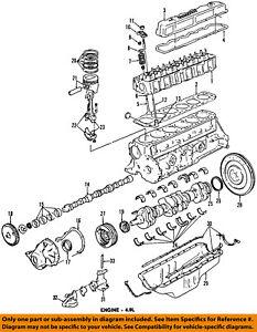 FORD OEM-Engine Crankshaft Crank Main Bearing XW7Z6D309AYA