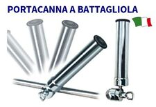 PORTACANNA A BATTAGLIOLA IN OTTONE CROMATO CON MORSETTO REGISTRABILE BARCA