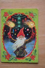Rare Vintage Postcard JENNY NYSTROM Sweden Christmas Gnome Elf Swedish
