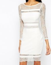 BNWT Lipsy Loves Michelle Keegan Lace Panelled Bodycon Shift Dress UK10 RRP £65