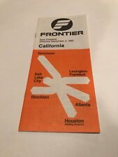 Frontier Airlines 1980 Timetable California