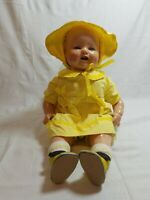 """Antique 1920's Early EIH Horsman Baby DimplesComposition Doll Great Shape 18"""""""