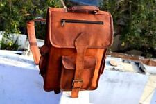 "16"" Leather Bag Travel Rucksack Real Backpack S Vintage Handmade Laptop Men BAG"