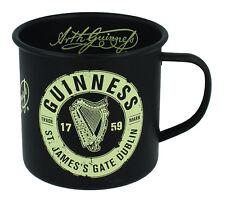 Guinness Enamel Mug Black & Cream Harp Design -   New