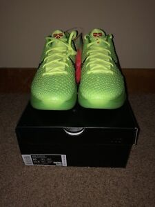 Nike Zoom Kobe 6 Protro Grinch 2020 Men's Size 10 (CW2190-300)
