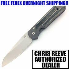 CHRIS REEVE SMALL SEBENZA 21 TITANIUM W/ MICARTA INLAY INSINGO CPM S35VN KNIFE