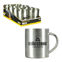Stainless Steel Camping Mug with Handle Hiking Cup Soup Coffee Tea Drinking