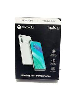 """Unlocked Motorola moto g Fast XT2045-3 6.4"""" HD+ 32GB 16MP 4G LTE Pearl White New"""