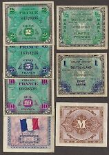 WWII - AMC - Allied Military - France and/or Germany (Your Choice Per Note) - VF