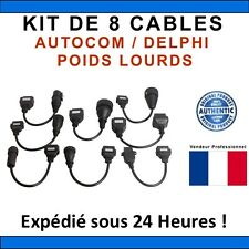 KIT 8 CABLES CAMIONS / TRUCKS compatible AUTOCOM / DELPHI  - CDP+ CDP PRO DS150