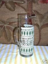 Vintage 1 Martini Pitcher Green & White Ex Condition