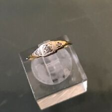 Women's Antique 18ct Gold & Platinum Diamond Ring Three-Stone 1g Size J