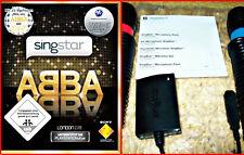 Ps3 SingStar ABBA fiesta + 2 sing star micrófonos + USB * versión alemana * Party divertido