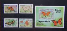 Anguilla 1987 Easter Butterflies set & Miniature Sheet MNH