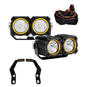 KC Toyota Tacoma 2016-2018 Pillar/Ditch Mount KC FLEX LED Dual Spread Light Kit
