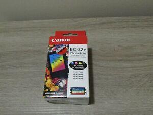 Genuine Canon BC-22E Photo Black & 4 Colors Ink Cartridge Genuine New Sealed Box