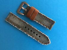 Uhrband in the Army Now canvas/pelle 24mm Cachi REPLACEMENT STRAP BAND