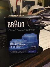 2 pack Braun Clean Renew Cartridge Refills Series Genuine Shaver Cleaner.