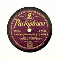 "BILLY THORBURN ""If You Were The Only Girl In The World"" (E+) PARLOPHONE [78 RPM]"