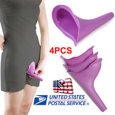 USA 4PC Portable Female Woman Ladies She Urinal Urine Wee Funnel Camping Travel
