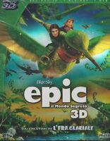 Blu-ray 3D + Blu-ray 2D + Dvd **EPIC ♥ IL MONDO SEGRETO** nuovo sigillato 2013