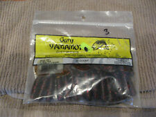 "Gary Yamamoto 4"" SINGLE TAIL GRUB WORM 40-20-208 WATERMELON W/ BLACK RED FLAKE"