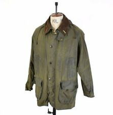 Men's BARBOUR BEDALE Green WAXED COTTON Hood Outdoor Farmer Shooting Jacket 42