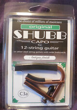 New Shubb C3A Capo antique finished Capo for 12-String Guitars + Free Shipping