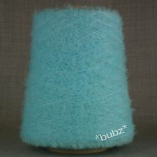 SUPER SOFT 4 PLY FEATHER / EYELASH YARN LIGHT BLUE - 500gram CONE 10 BALLS FANCY